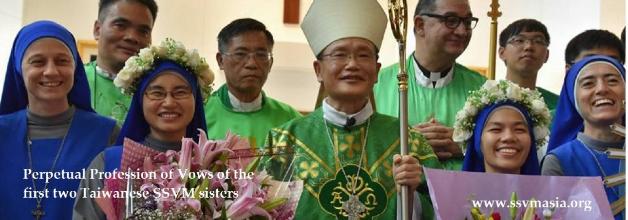 perpetual profession of vows in Taiwan 2017