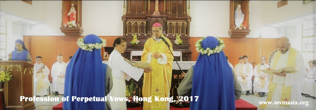 Profession of Perpetual vows in Hong Kong, 5 Oct 2017