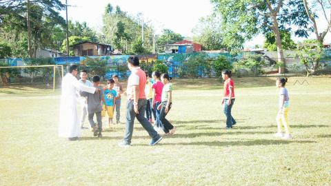 Children and youth playing during sports time