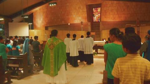 Holy Mass in the evening closing the event
