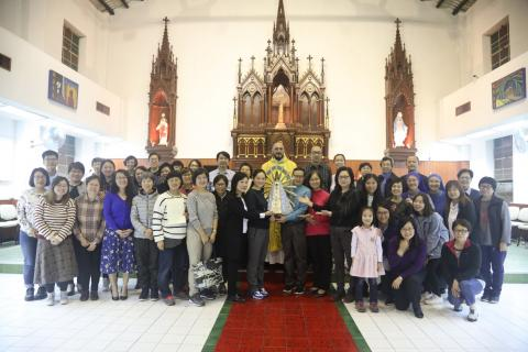 Picture of the parishioners who have consecrated themselves to the Blessed Virgin Mary