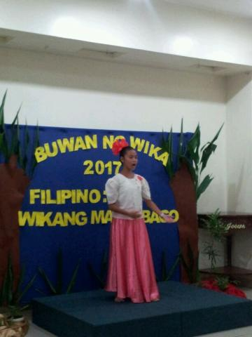 preformance of student in the buwan ng wika