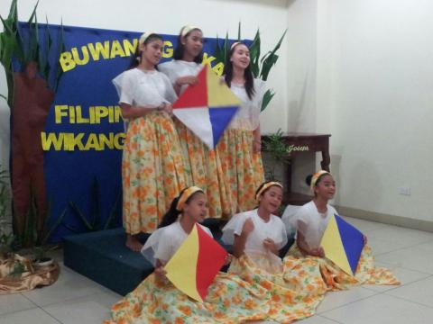 group performance of folk song in buwan ng wika