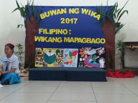 posters made by our students for the buwan ng wika