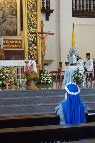 prayer moment of the newly professed after the communion