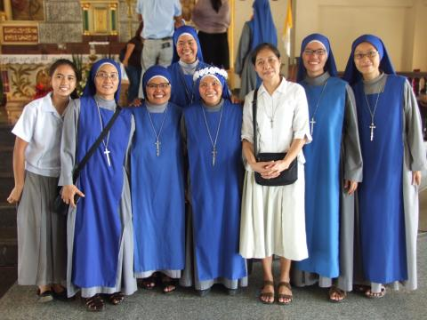 Group pictures of the Filipino vocations