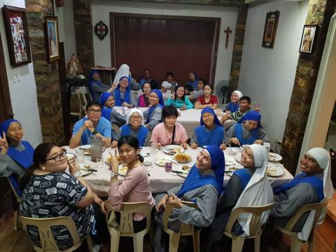 Some families and friends visited the Juniorate Convent after the feast