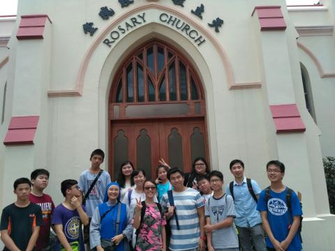 pilgrimage for youth during Summer Oratory in Hong Kong 2017