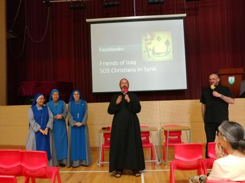 sharing of missionary in Iraq Fr. Luis Montes, IVE, in Hong Kong