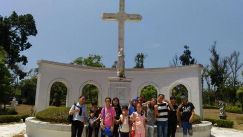 Dali, Taiwan-faithful had pilgrimage to Jinmen Island, visiting a Catholic museum