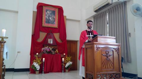 Homily by Fr. Pablo, IVE, on the Feast of Chinese Martyrs Parish in Puxin, Taiwan 01