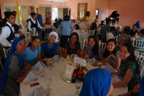 Sister Mary Daughter of Zion with her sister and friends