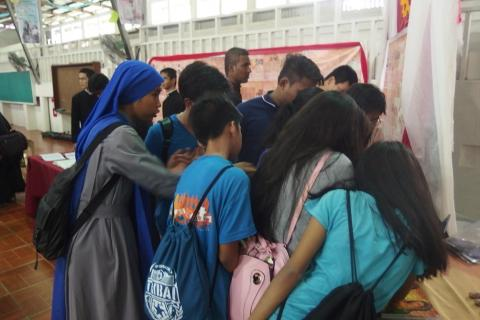 youth enjoying the introduction of the mission of the Our Religious Family - IVE Youth Day 2017