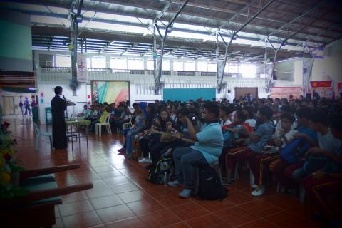 our seminarian gave a conference on History of Philippines